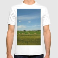 Summertime in WaterValley White Mens Fitted Tee SMALL