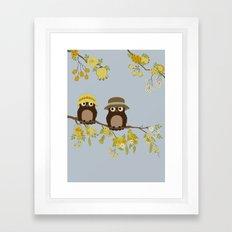Cute Owls (Summer V)  Framed Art Print
