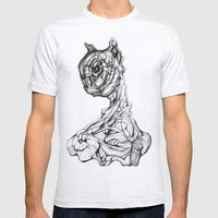 Feline Sentient Mens Fitted Tee Ash Grey SMALL