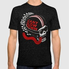 Can't Slow Down Mens Fitted Tee Tri-Black SMALL