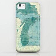 Michigan Map Blue Vintag… iPhone 5c Slim Case