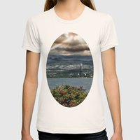 Bridge Near Vancouver Womens Fitted Tee Natural SMALL