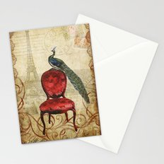 Peacock in Paris Stationery Cards