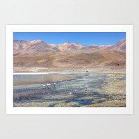 Salar de Uyuni Bolivia Art Print