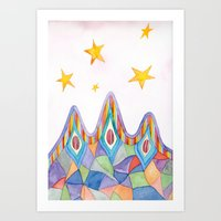 Canyon Under Stars Art Print