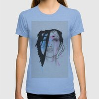 Beyond Womens Fitted Tee Athletic Blue SMALL
