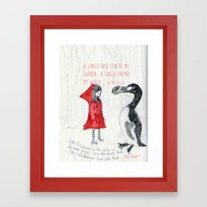A Single Friend Framed Art Print