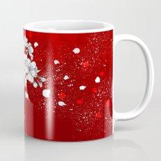 Red skies and white sakuras Mug