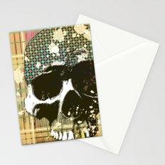 tartan skull Stationery Cards
