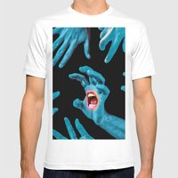 Screaming Hand Mens Fitted Tee White SMALL