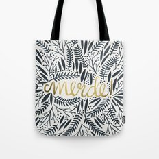Pardon My French – Black & Gold Tote Bag