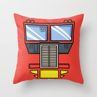 Transformers - Optimus Prime Throw Pillow