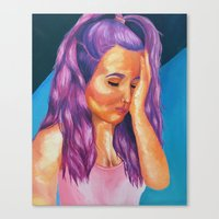 Hues Of Purple Canvas Print