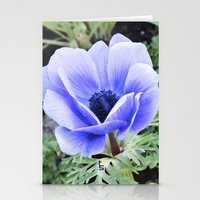 Purple Poppy Anemone I Stationery Cards