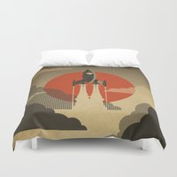 The Voyage (Grey) Duvet Cover