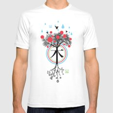 Árbol - 木 - Tree Mens Fitted Tee SMALL White