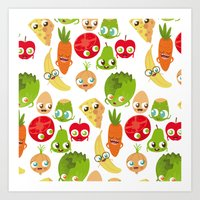 food Art Prints featuring Food by Peerro