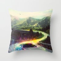 Superhighway Throw Pillow