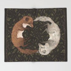 Foxes Throw Blanket