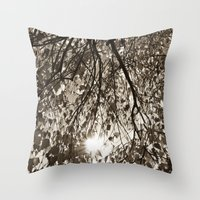 Sepia Autumn  Throw Pillow