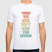 Life Lesson # 2 Mens Fitted Tee Ash Grey SMALL