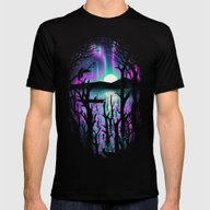 T-shirt featuring Night With Aurora by Nicebleed