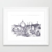 Lowry Aliens Framed Art Print