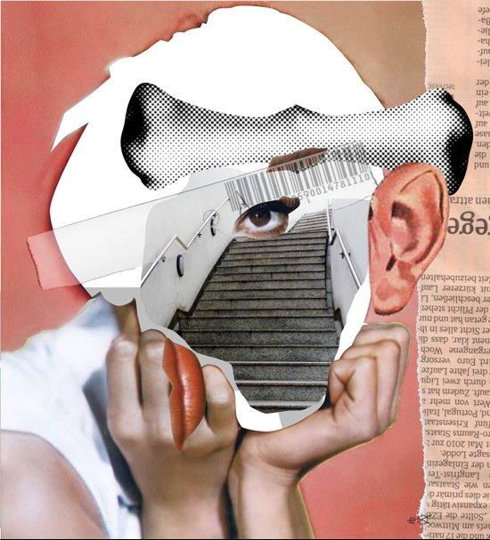 Audrey 3 Collage Art Print