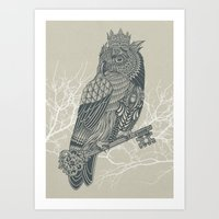 Owl King Art Print