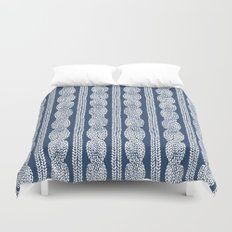 Cable Knit Navy Duvet Cover