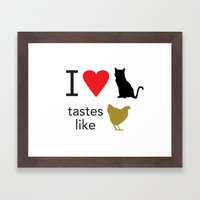 I Heart Cats Framed Art Print