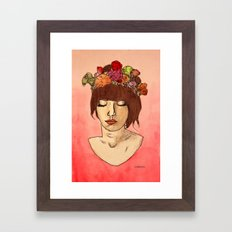 Is She Down To Earth or Just Hipster? Framed Art Print