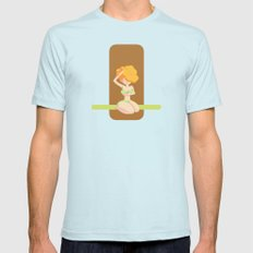 Cute vegetal color shapes pin-up Mens Fitted Tee Light Blue SMALL