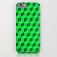 iPhone & iPod Case featuring Geometric Series (Green)  by Matthew Kel