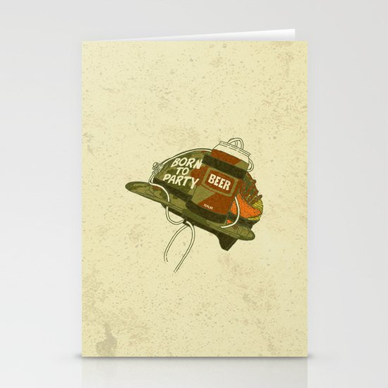 Born to party Stationery Card
