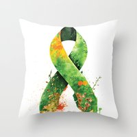 Nature Ribbon Throw Pillow
