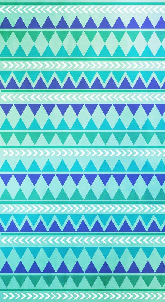 Winter Aztec Pattern Art Print