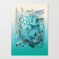 Subsea Floral Canvas Print