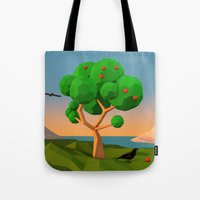 The apple tree Tote Bag