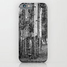 Summer Aspen Stand in Black and White iPhone 6s Slim Case
