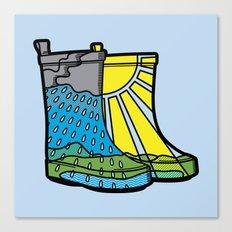 Rainy Day Boots Canvas Print