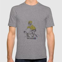 Wiggo Mens Fitted Tee Athletic Grey SMALL