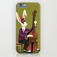 iPhone & iPod Case featuring The Jazz Bunny by Oliver Lake
