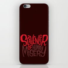 Scavenger of Human Misery iPhone & iPod Skin