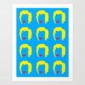 Minimalist Monroe Repeats Art Print