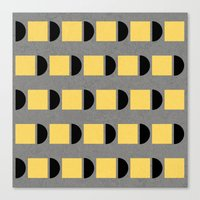 shapes in yellow, grey and black Canvas Print