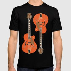 Chet's Guitar SMALL Mens Fitted Tee Black
