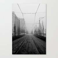 Foggy Tramtracks Canvas Print