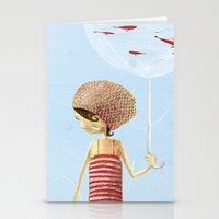 FISH IN UMBRELLA - Tript… Stationery Cards
