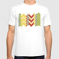 Myriad Chevrons Mens Fitted Tee White SMALL